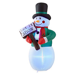 North Pole Trading Co. 6ft Snowman Outdoor Inflatable