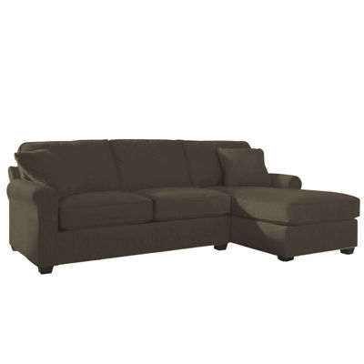 fabric roll arm 2pc right arm sectional