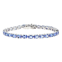 LIMITED QUANTITIES Genuine Emerald-Cut Tanzanite Sterling Silver Bracelet