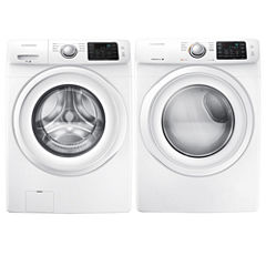 Samsung Front Load 2-pc. Electric Washer and Dryer Set- White