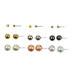 Carole 9-pr. Stud Earring Set