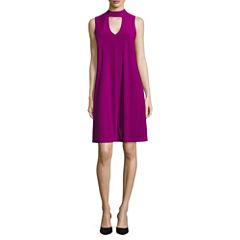 Tiana B Sleeveless Trapeze Dress-Talls