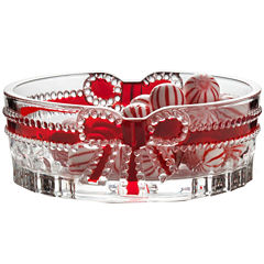 Mikasa® Celebrations Red Ribbon Oval Candy Dish