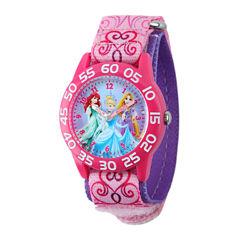 Disney Princess Kids Time Teacher Pink Nylon Fast Strap Watch