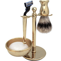 Harry D. Koenig 4-pc. Gold-Plated Shave Set for Men