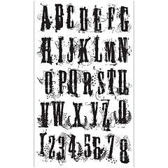 Tim Holtz® Cling Rubber Stamp Set, Grudge Alphabet
