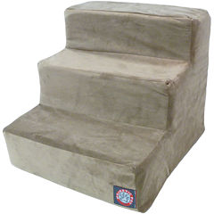 Majestic Pet 3-Step Faux Suede Pet Stairs