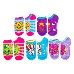 Girls 5 Pair No Show Socks