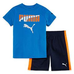 Puma 2-pc. Short Set Boys Juniors