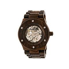 Earth Wood Grand Mesa Automatic Dark Brown Bracelet Watch ETHEW3102