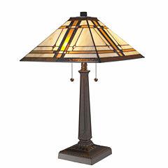 Amora Lighting™ Tiffany Style Mission Table Lamp