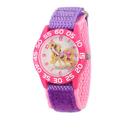 Disney Girls Palace Pets Purple and Pink Blondie Time Teacher Strap Watch W002829