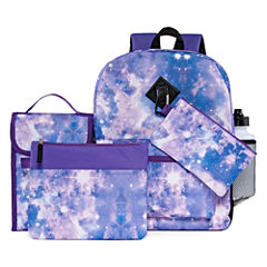 6PC Purple Space Backpack Set