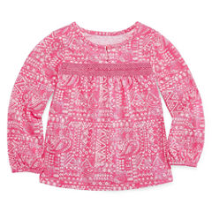 Arizona Long Sleeve Blouse - Toddler Girls