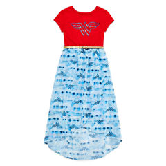 Wonder Woman Logo High- Low Dress - Big Kid Girls