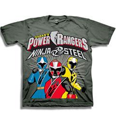 Short Sleeve Power Rangers T-Shirt-Toddler Boys