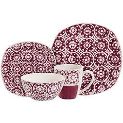 Simplemente Delicioso Flor Violeta 16-pc. Dinnerware Set