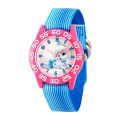 Disney Girls Palace Pets Blue Pumpkin Time Teacher Strap Watch W002826