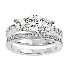 1 1/4 CT. T.W. Diamond 14K White Gold Bridal Set