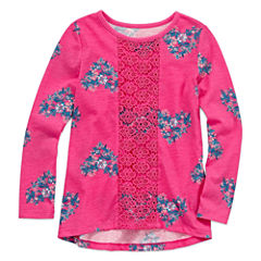 Arizona Long Sleeve Crochet Front Top - Preschool Girls