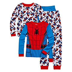 Spiderman 4 PC Pajama Set - Boys