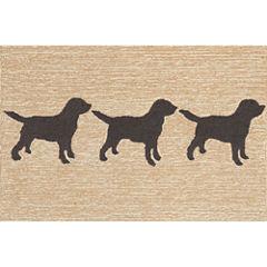 Liora Manne Frontporch Doggies Hand Tufted Rectangular Rugs