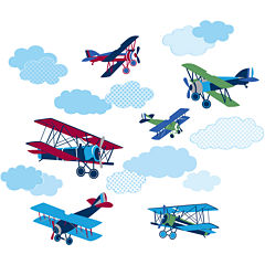Mighty Vintage Planes Wall Decals