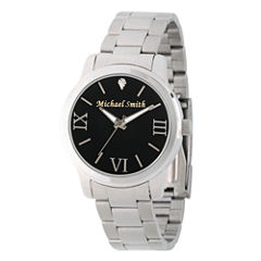Personalized Silver Tone Black Dial Stainless Steel Bracelet Watch