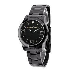Personalized Gun Metal Black Dial Stainless Steel Bracelet Watch