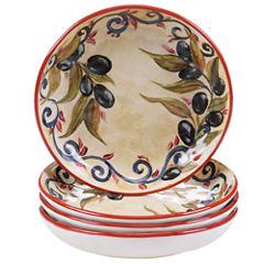 Certified International Umbria Set Of 4 Soup/Pasta Bowls