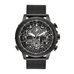 Citizen® Eco-Drive® Navihawk A-T Mens Mesh Strap Chronograph Watch JY8037-50E