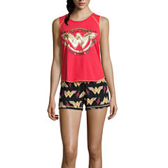 DC Comics Wonder Woman Short Pajama Set