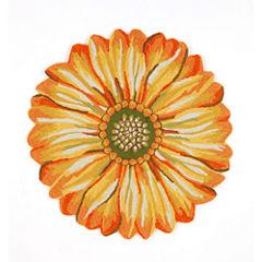 Liora Manne Frontporch Sunflower Hand Tufted Round Rugs
