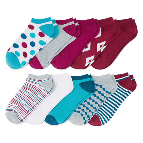 Mixit 10-pc. No Show Socks - Womens