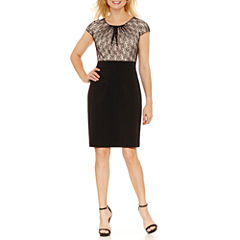 Chelsea Rose Short Sleeve Sheath Dress