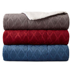 JCPenney Home Beyond Soft Mink Faux Fur Reversible Throw