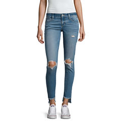Arizona Destructed Ankle Jeggings-Juniors