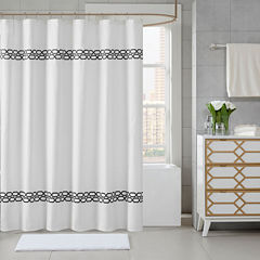 Madison Park Signature Copula Embroidered Shower Curtain