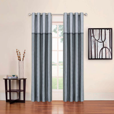 eclipse arno thermalayer blackout grommettop curtain panel - 63 Inch Curtains