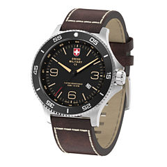 Swiss Military By Charmex Infantry Mens Brown Strap Watch-78344_5_D