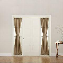 Sun Zero Emory Room Darkening Rod-Pocket Sidelight Curtain