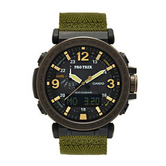 Casio Pro Trek Mens Green Strap Watch-Prg-600yb-3cr