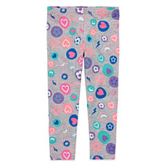 Okie Dokie Floral Knit Leggings - Toddler Girls