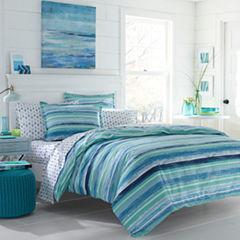 Poppy & Fritz Alex Bedding Collection Stripes Reversible Comforter Set