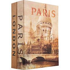 Barska® Paris & London Dual Book Lock Box with Key Lock