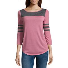 Arizona 3/4 Sleeve T-Shirt- Juniors