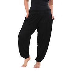 White Mark Harem Knit Jogger Pants-Plus