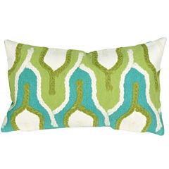 Liora Manne Visions Iii Crochet Tower Rectangular Outdoor Pillow
