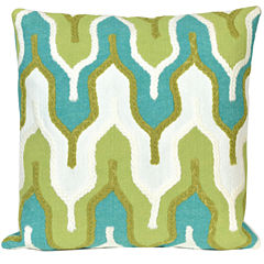 Liora Manne Visions Iii Crochet Tower Square Outdoor Pillow