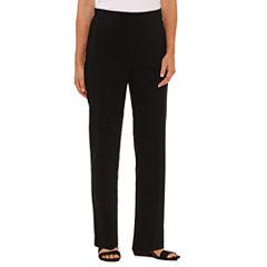 Alfred Dunner Closet Case Woven Flat Front Pants